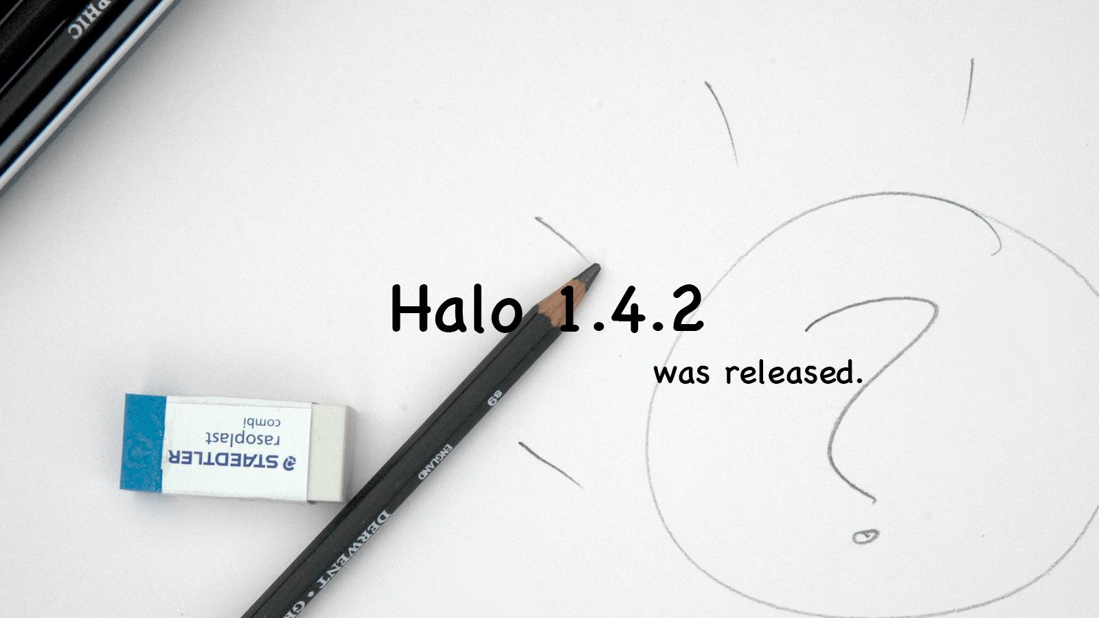 Halo 1.4.2 发布